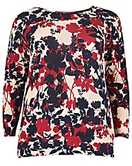 Samya Batwing Knit Print Top