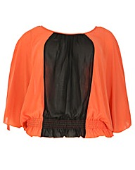 Samya Batwing Contrast Panel Top
