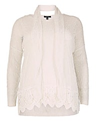 Samya Net Top With Lace Hemline