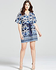 Girls On Film Navy Aztec Print Dress