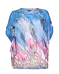 Samya Water Colour Batwing Top