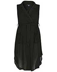 Samya Gathered Wrap Dress
