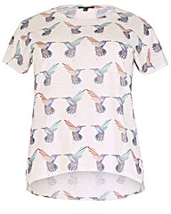 Samya Humming Bird Print Top