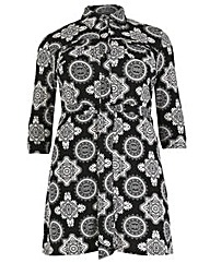 Samya Floral Print Shirt Dress