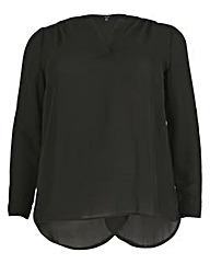 Samya Long Sleeve V Neck Top