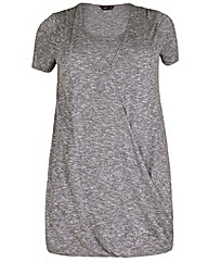 Amy K Grey long line wrap over tunic
