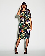 AX Paris Tropical Print Bodycon Dress