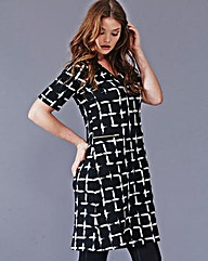 Simply Be Grid Print Tunic Dress