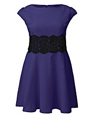 AX Paris Purple Lace Waist Skater Dress