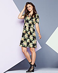 AX Paris Floral Print Jersey Dress
