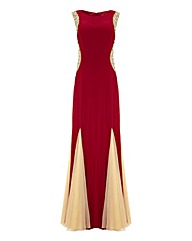 Forever Unique Red Bellisa Maxi Dress