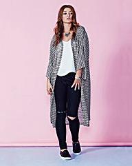 Simply Be Sheer Grey Kimono