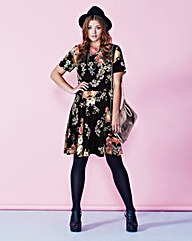 Alice And You Printed Oriential Dress