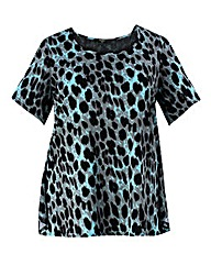 Koko Bow Back Animal Print Top