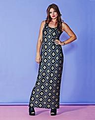 Simply Be Metallic Jersey Maxi Dress