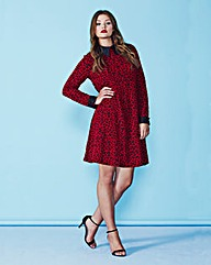 AX Paris Red Leopard Swing Dress