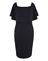 AX Paris Frill Sleeve Black Dress