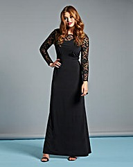 Lipstick Boutique Black Lace Maxi Dress