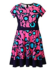 AX Paris Pink Blue Skater Dress