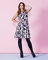 Simply Be Print Dress With Lace Back