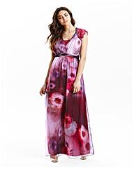 Little Mistress Watercolour Maxi Dress
