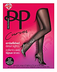 Pretty Polly Curves Embellished Tights