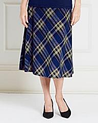 Pull On Check Skirt