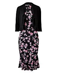 Print Dress & Shrug L39