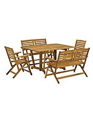 Henley Bench Armchair Dining Set