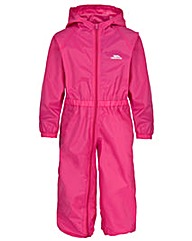 Trespass Button  Childs Unisex Rain Suit