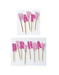 Glitz Happy Birthday Pick Candles