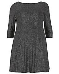 Amy K Glitter Shift Dress