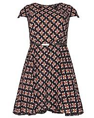 Samya Belted Cut-Out Detail Dress