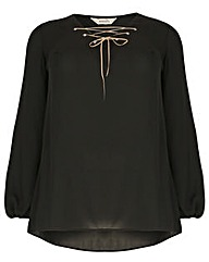 emily Diamante Eyelet Top