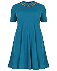 Koko Sequin Trim Cut Out Dress