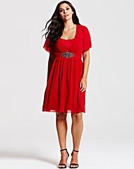 Little Mistress Red Chiffon Dress