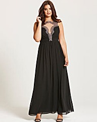 Little Mistress Black Maxi Dress