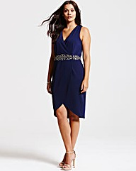 Little Mistress Navy Crossover Dress
