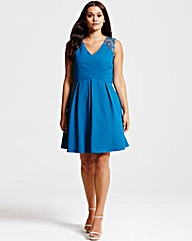 Little Mistress Teal Crossover Dress