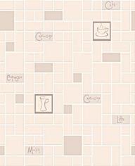 Contour Cafe Culture Beige Wallpaper