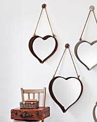 Gallery Metal Heart Mirror - Set of 2