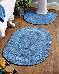 Reversible Bathroom Mat Set