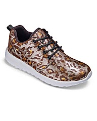 KD Go Leopard Trainers Wide Fit