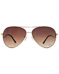 Guess Curved Temple Aviator Sunglasses