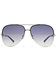 Guess Rimless Aviator Sunglasses