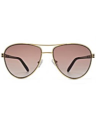 Guess Enamel Temple Aviator Sunglasses
