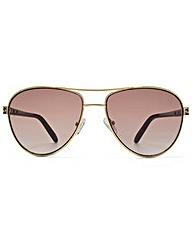 Guess Enamel Temple Aviator Sunglasses