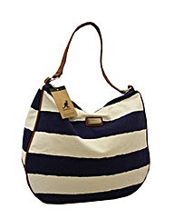 Kangol canvas stripe scoop bag