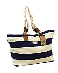 Kangol nautical canvas shopper