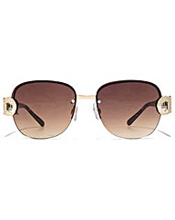 Carvela Metal Link Rimless Sunglasses